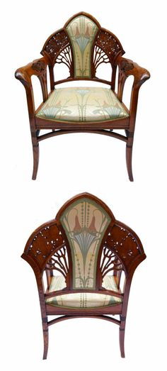 "artnouveaustyle: "" Antique Jugendstil style armchair, circa 1890′s-1900′s. From here. """