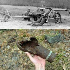 "3,077 Likes, 8 Comments - @ww2nowandthen on Instagram: ""The 7.5 cm Pak 40 (7,5 cm Panzerabwehrkanone 40) was a German 75 millimetre anti-tank gun developed…"""
