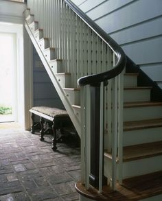 Lovely stair and brick floor. http://columnsphoto.com/upload/cottage52.jpg