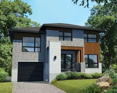 Contemporary house plans and modern house plans are not the same. Two Story House Design, Two Story House Plans, Small House Plans, Contemporary House Plans, Contemporary Style Homes, Modern House Plans, Modern Houses, Small Modern Home, Two Storey House