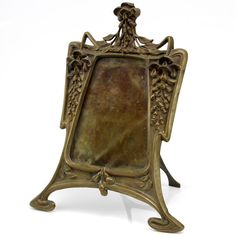 Art Nouveau Picture Frame. Brass with Felt Backing and Glass. France. Circa 1900. 38cm x 29.5cm.