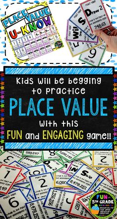Place Value U-Know (played like UNO) $ Available in a whole number version and a decimal & whole number version.