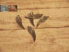Charm Charms Silber Silver Feather Feder Flügel Wing Wings Get it here: http://www.elegance-of-crafting.com/