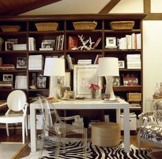 Ashley Stark's home office--more mix of eclectic and modern that works!