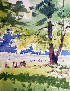 Yong Hong Zhong, A sunny afternoon at Prospect Park in Brooklyn NY