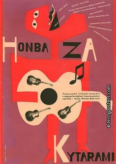 Work of Czech artist and designer Karel Vaca (1919-1989). Vaca designed 289 film posters.
