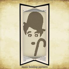 Book folding pattern Charlie Chaplin for 156 folds - ID0055455