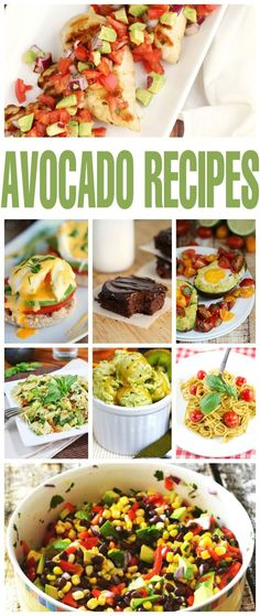 Check out these unforgettable Unusually Good Avocado Recipes. Ever tried an Avocado milkshake or a fudgy avocado dessert? These are recipes for Avocado lovers! Avocado Dessert, Lunch Recipes, Great Recipes, Cooking Recipes, Yummy Recipes, Best Avocado Recipes, Healthy Recipes, Best Food Ever, Food Dishes