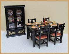 Too cute!! Miniature Art Deco Dining Room Suite - 1/12 scale