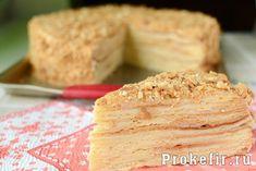 Торт наполеон классический совецкий с заварным кремом