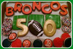 Broncos Superbowl cookies
