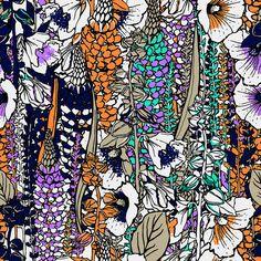 Floral Pattern designed by me for Luigi Bertolli Summer 2011  +info http://flickr.com/dou_glas
