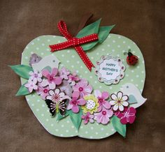 Handmade Mother's Day card by mandishella