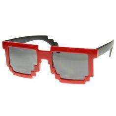 Super Fun Retro Pixelate 8-Bit Geek Sunglasses 8539