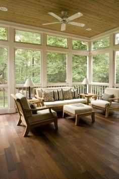 This looks more like an All-Weather room than a Screened in Back Porch..but either way, it's beautiful!!
