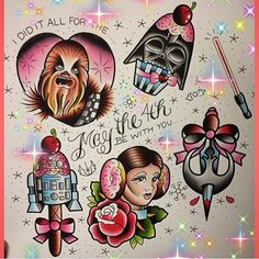 I'll just leave these here! Last chance to get tattooed by @mimswah before we close up for the holidays on the 25th December. Why not book a cheeky Star Wars tattoo! Doesn't take your fancy? That's ok we can make your tattoo ideas into real life just email trailertrashtattoo@hotmail.com