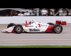 Rick Mears celebrates after winning his fourth and final Indy 500 in 1991 while using Chevy power. (IMS)