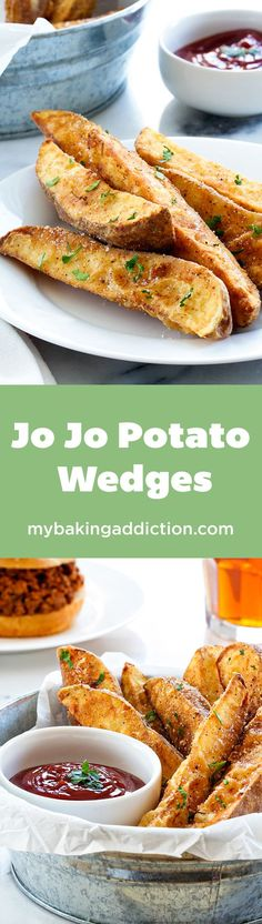 Jo Jo Potato Wedges are thick and satisfying! They're crisp on the outside and fluffy on the inside and perfect with ketchup or ranch dressing!
