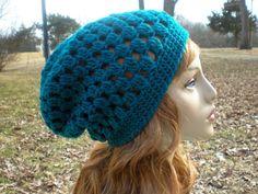 Decatur Street Hat, easy crochet, slouch hat