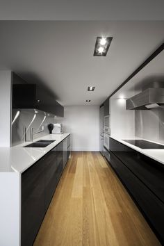I don't really like galley kitchens, but WOW