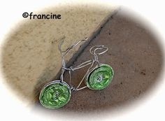 FRANCINE BRICOLE : Petit vélo fil de fer et capsules Nespresso Dosette Nespresso, Wire Jewelry, Recycling, Jewelry Making, Drop Earrings, Metal, Bicycles, Biscuits, Craft Ideas