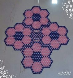 Beaded Flower Mat Size 19 × 17 inches @Rs 1200