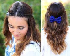 symmetrical double braid hairstyle