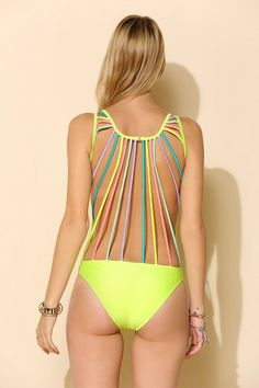 Kovey String-Back One-Piece Swimsuit #urbanoutfitters
