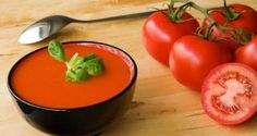 Gazpacho - National dish of Spain. Cold tomato soup with cucumber, olive oil and other spices. Tomato Soup Recipes, Seafood Recipes, Vegetarian Recipes, Cooking Recipes, Healthy Recipes, Great Recipes, Favorite Recipes, Soups And Stews, Gastronomia