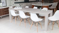 Let your guests dine in style with the grey gloss extending dining table available at Danetti. Make your home a social hub and browse our range of tables today. Dining Bench With Back, White Extending Dining Table, Extendable Dining Table, Round Dining Table, Dining Room Table, Table And Chairs, Kitchen Tables, Dining Set, Eames Style Dining Chair