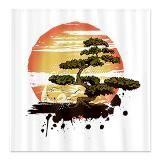 Japanese Bonsai Tree Shower Curtain