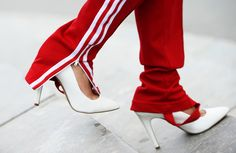 My favorite shoes in my closet right now. Adidas sweats is genius too ;)
