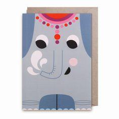 Cute #elephant greeting #card by #Ingela P #Arrhenius from www.kidsdinge.com https://www.facebook.com/pages/kidsdingecom-Origineel-speelgoed-hebbedingen-voor-hippe-kids/160122710686387?sk=wall
