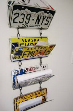 Have any license plates laying around, check out these great ways to DIY license plates for home decor and everyday use items.