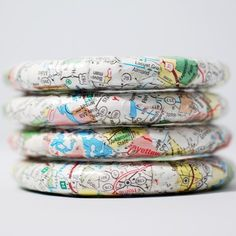 Show off your favorite country with DIY map bracelets. For more ways to upcycle maps, visit @BrightNest Blog.