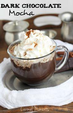 DIY Dark Chocolate Mocha -- Delicious dark chocolate mocha with an easy to make recipe. // @gatherforbread