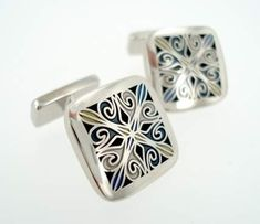 Reclaimed Cufflinks, Recycled Cufflinks, Traditional Cufflinks, Deco Silver Cufflinks, Antique Cufflinks