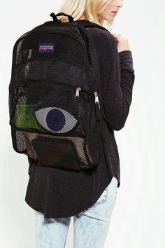 Jansport | Black Mesh Backpack | Lyst