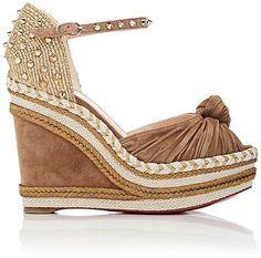 Christian Louboutin Women's Madcarina Wedge Espadrille Sandals http://shopstyle.it/l/dwX0