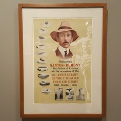10 December 2016 (18:38) / A SANTOS-DUMONT British poster from 1956, as seen on the SANTOS-DUMONT exhibition at Itaú Cultural, São Paulo City.