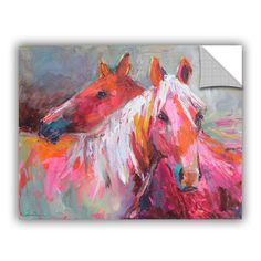 Svetlana Novikova Stallion Horses , Art Appeelz Removable Wall Art Graphic  is a high-quality canvas print depicting a bright and colorful pair of stallions in the artist's signature vibrant, impressionist style. A bold addition to your home or office.