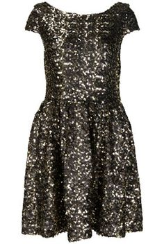 Gold Cluster Sequin Prom Dress by Dress Up Topshop** - StyleSays