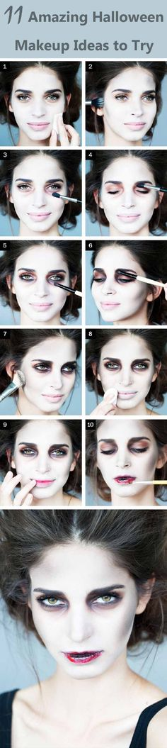11 Amazing Halloween Makeup ideas to try in this Halloween. These costumes will make your Halloween awesome.