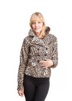 Dollhouse Junior Fleece Double Breasted Blazer w/ Animal Print Lining