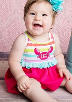 Lemon Loves Lime Sheer Raspberry ``Sidewalk Dance`` Baby Romper *PREORDER*