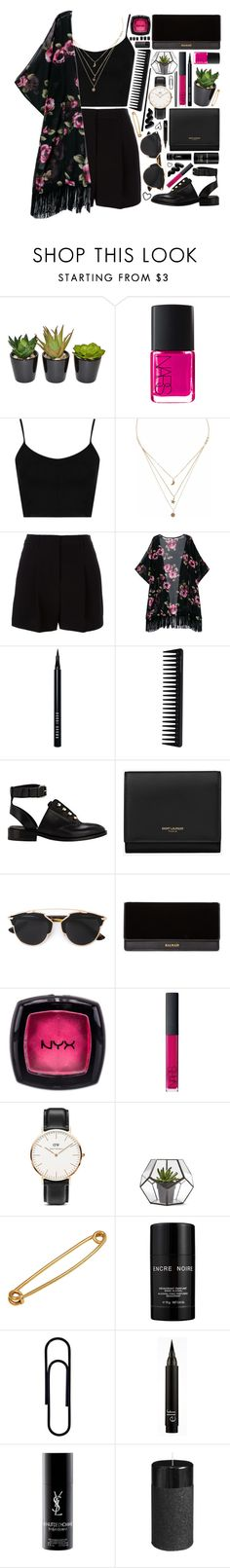 """Outfit 209"" by holass ❤ liked on Polyvore featuring The French Bee, NARS Cosmetics, Topshop, Liz Law, DKNY, Bobbi Brown Cosmetics, GHD, Balenciaga, Yves Saint Laurent and Christian Dior"