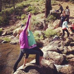 Mother and Daughter Love at Webber Falls near Sierraville during our Sierra Hot Springs Retreat!