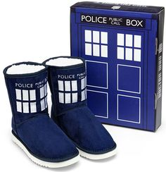 Doctor Who TARDIS Boot Slippers (USA)