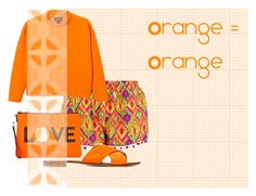 """Orange #1"" by lallushka on Polyvore"