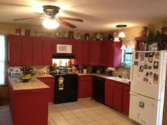 Barn Red Kitchen Cabinets These Look Like Mine I Can Do This